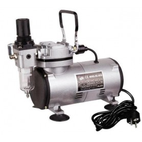 Geluidsarme airbrushcompressor