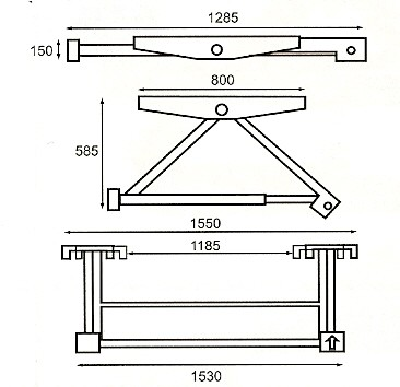 mini kantelbrug max 1500kg 449 00. Black Bedroom Furniture Sets. Home Design Ideas